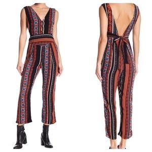 🆕 Free People All Shook Up Boho Print Jumpsuit